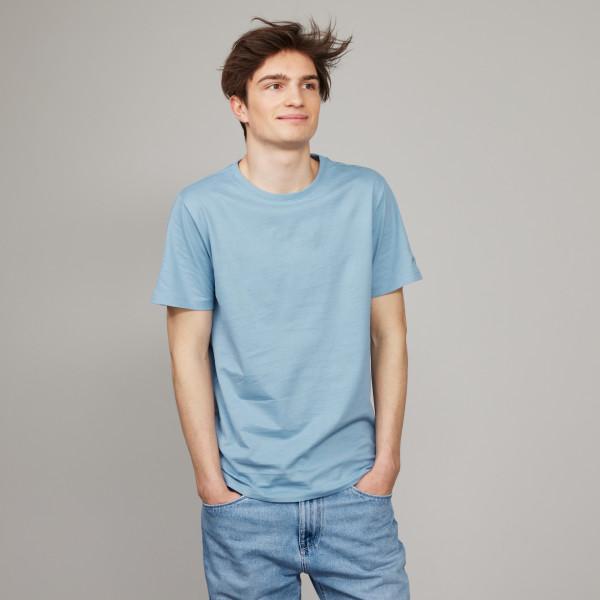 Basic T-Shirt Kurzarm mit GP Logostick steinblau