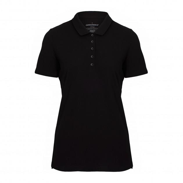 Damen-Polo schwarz