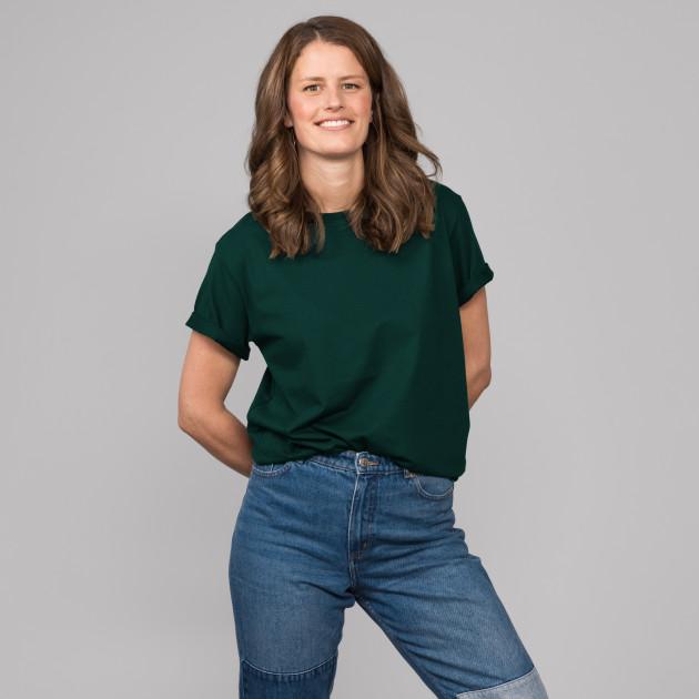 Basic T-Shirt Kurzarm mit GP Logostick tannengrün