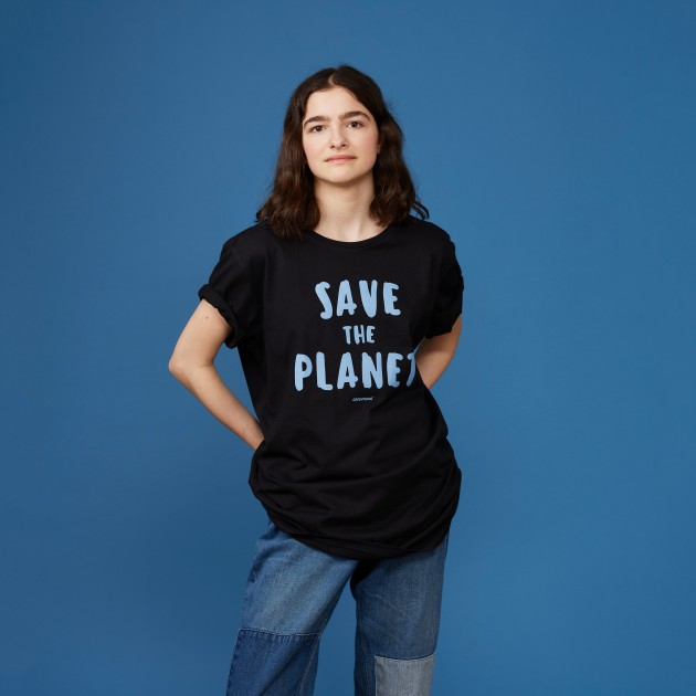 "T-Shirt ""Save the Planet"" schwarz"