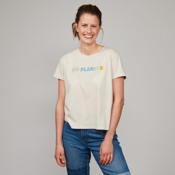 """Sommer Shirt """"NO PLANET B"""" kieselgrau"""