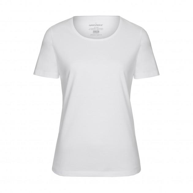 Damen T-Shirt Kurzarm weiß