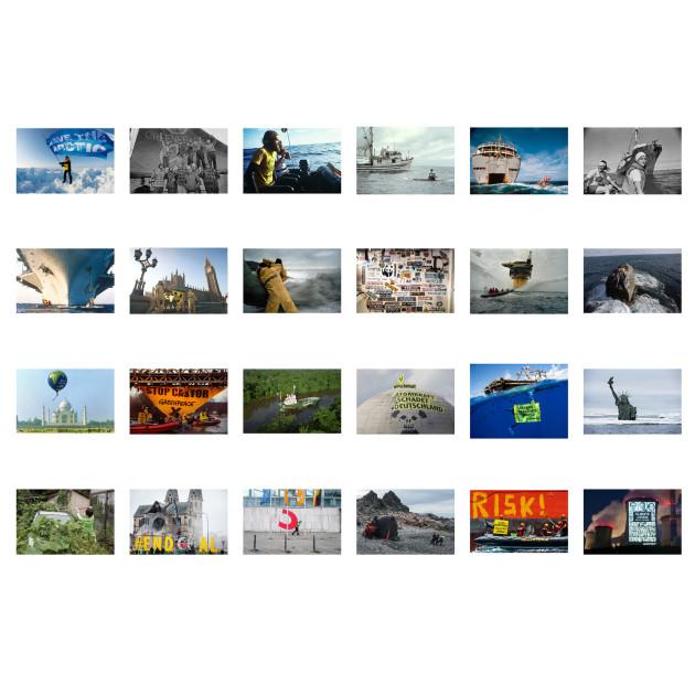 "Postkarten-Set ""50 Jahre Greenpeace"""