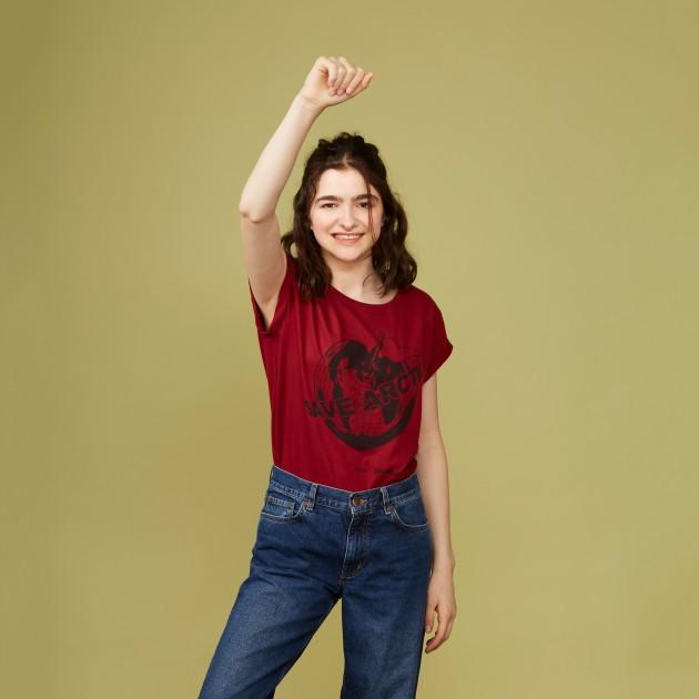 "T-Shirt ""Save the Arctic"" biking red"