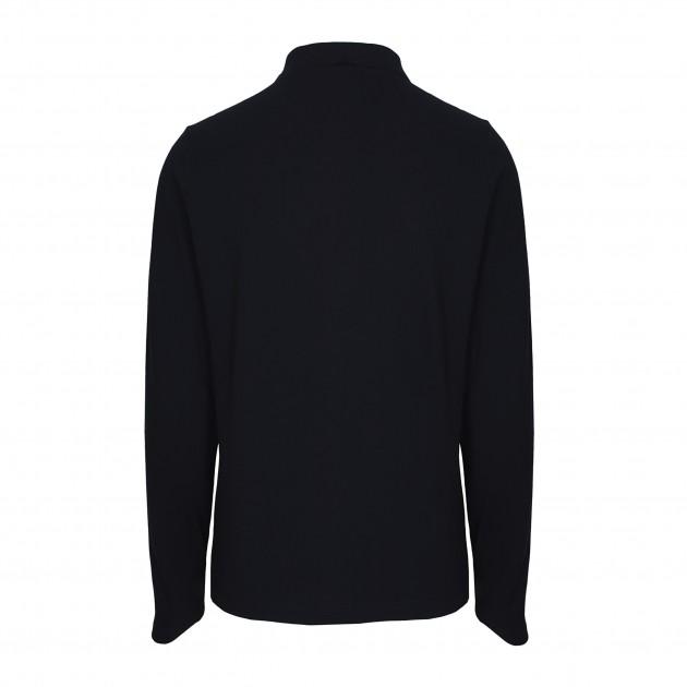 Herren-Polo Langarm nachtblau