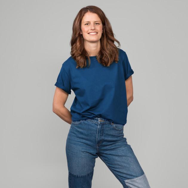 Basic T-Shirt Kurzarm mit GP Logostick jeansblau