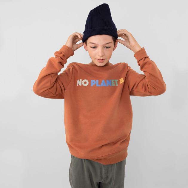 """Basic Sweatshirt """"No Planet B"""" terracotta"""