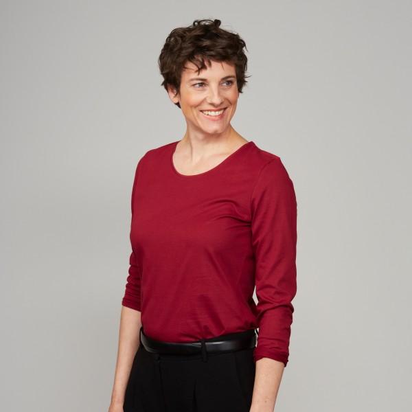 Damen Langarm Shirt biking red