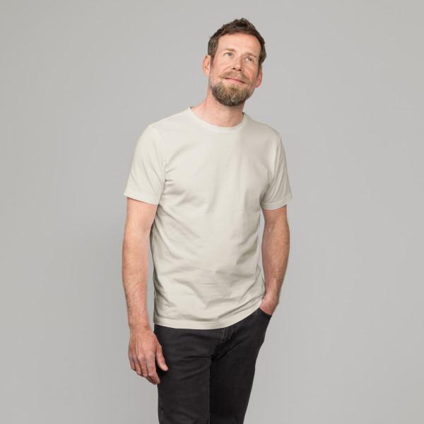 Basic T-Shirt Kurzarm mit GP Logostick kieselgrau