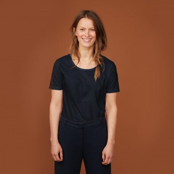 Damen T-Shirt Kurzarm nachtblau