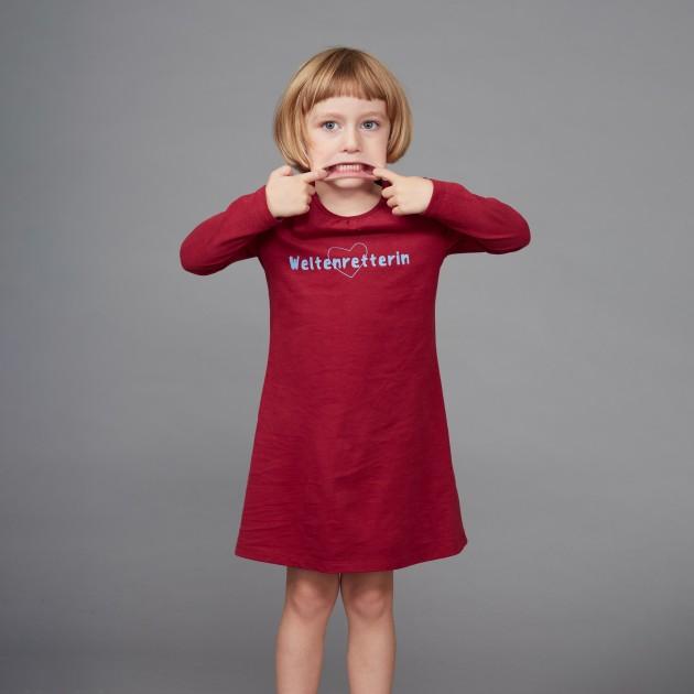 "Kids Nachthemd lang ""Weltenretterin"""