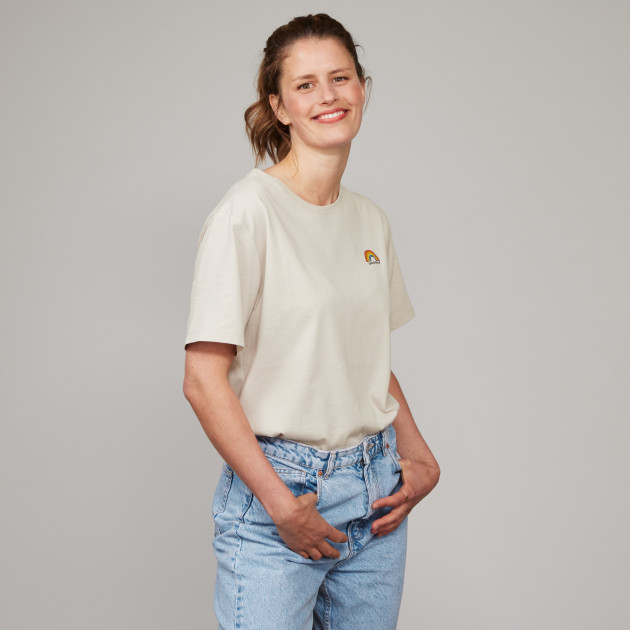 """T-Shirt """"Regenbogen"""" kieselgrau"""