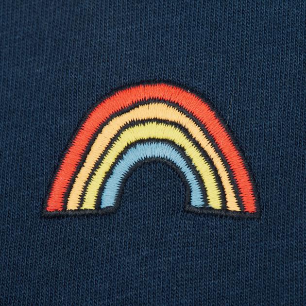 Jersey Sommerkleid Regenbogen dunkelblau