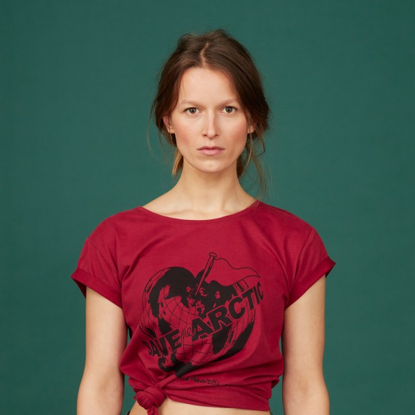 "Damen T-Shirt ""Save the Arctic"" biking red"