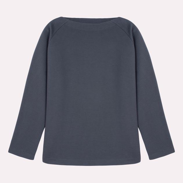 Damen Tunika Sweatshirt graphitgrau
