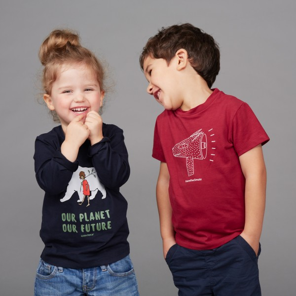 """Kids T-Shirt """"Save the Climate"""" biking red"""