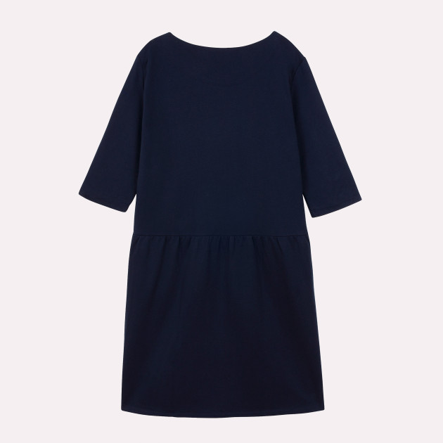 Damen Sweatkleid mit Greenpeace Logostick dunkelblau