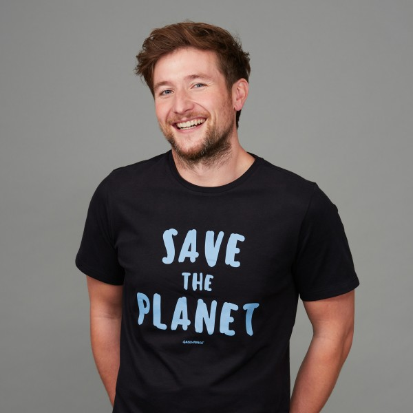 "Herren T-Shirt ""Save the Planet"" schwarz"