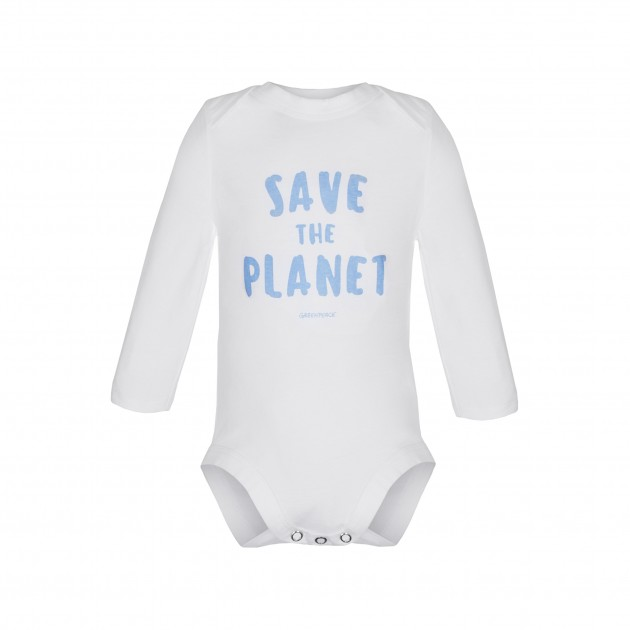 "Baby Body Langarm ""Save the Planet"""