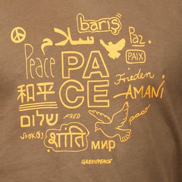 "Herren T-Shirt ""Peace"" steinnuss"