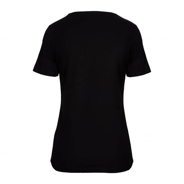 Damen T-Shirt Kurzarm schwarz