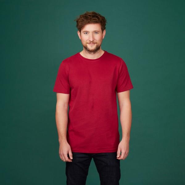 Herren Basic T-Shirt Kurzarm biking red