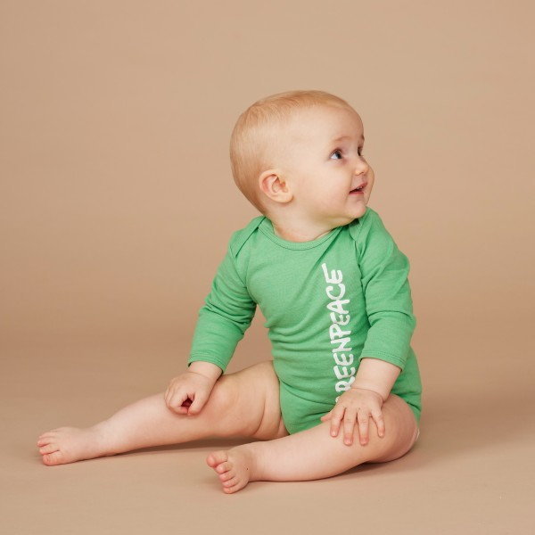 "Baby Body Langarm ""Greenpeace Original"""