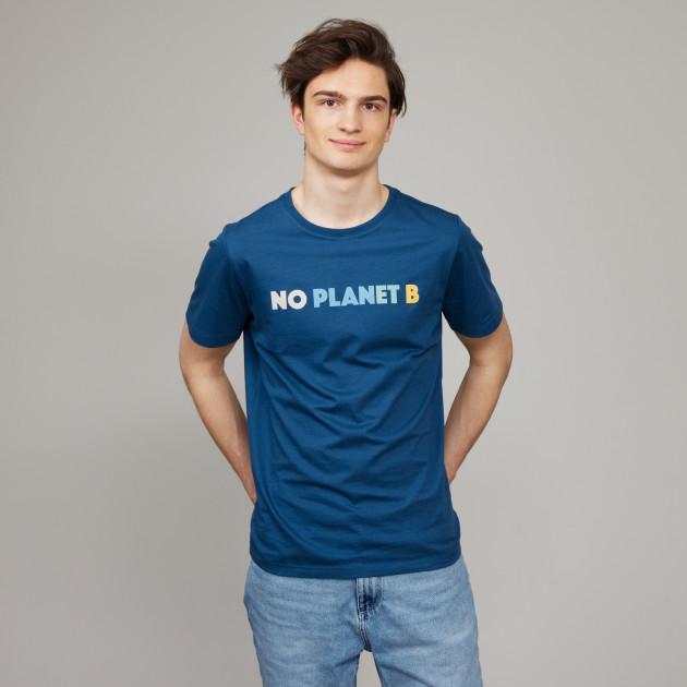 """T-Shirt"""" No Planet B"""" jeansblau"""