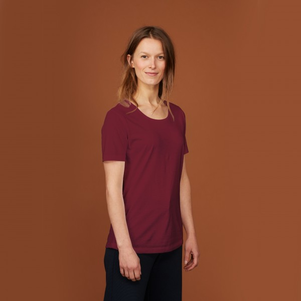 Damen T-Shirt Kurzarm biking red