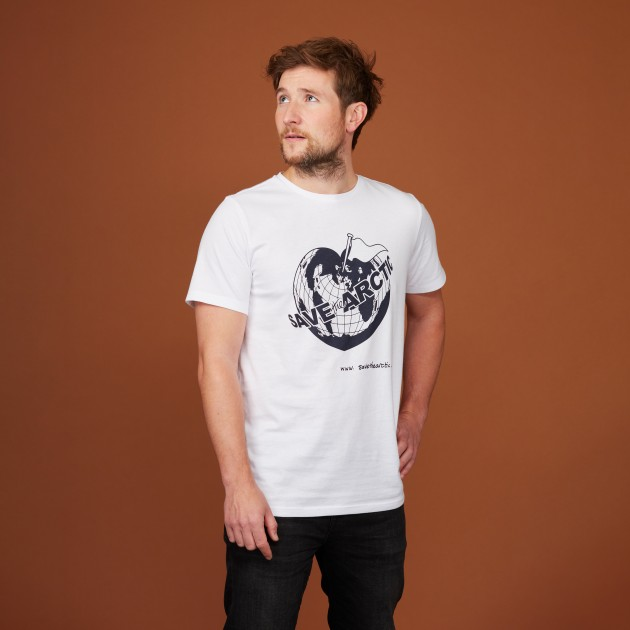"Herren T-Shirt ""Save the Arctic"" weiß"
