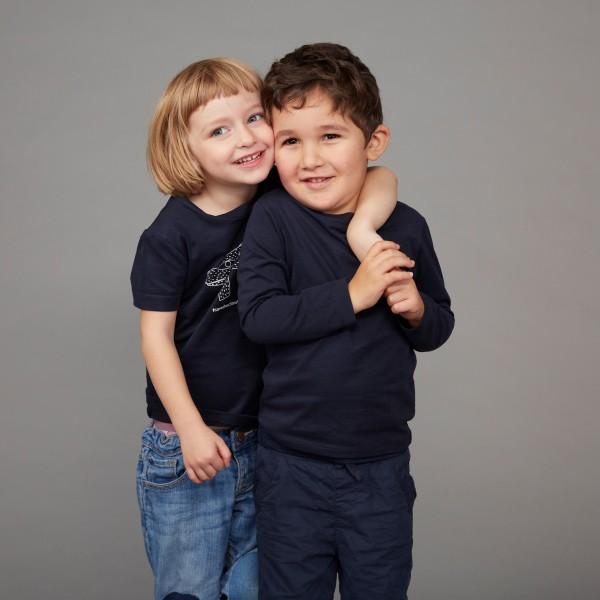 "Kids T-Shirt ""Save the Climate"" nachtblau"