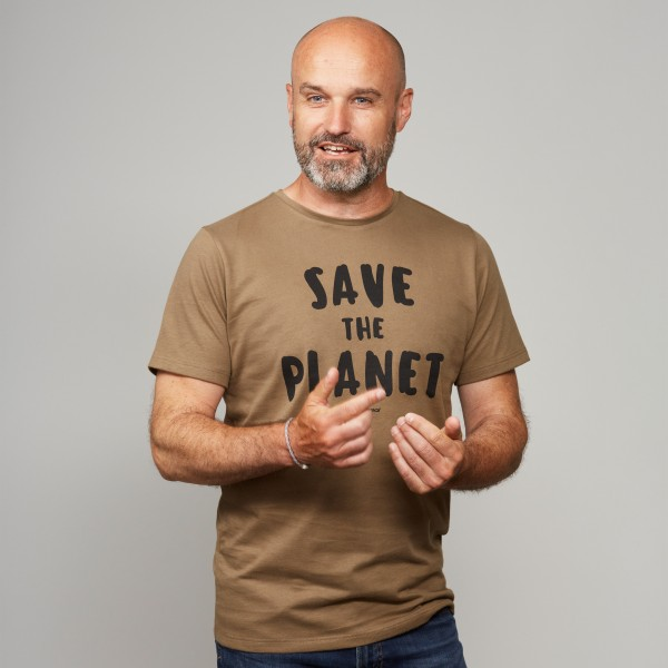 "Herren T-Shirt ""Save the Planet"" steinnuss"