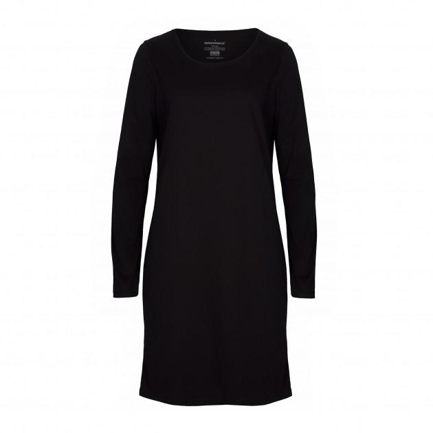 Damen Basic Shirtkleid schwarz