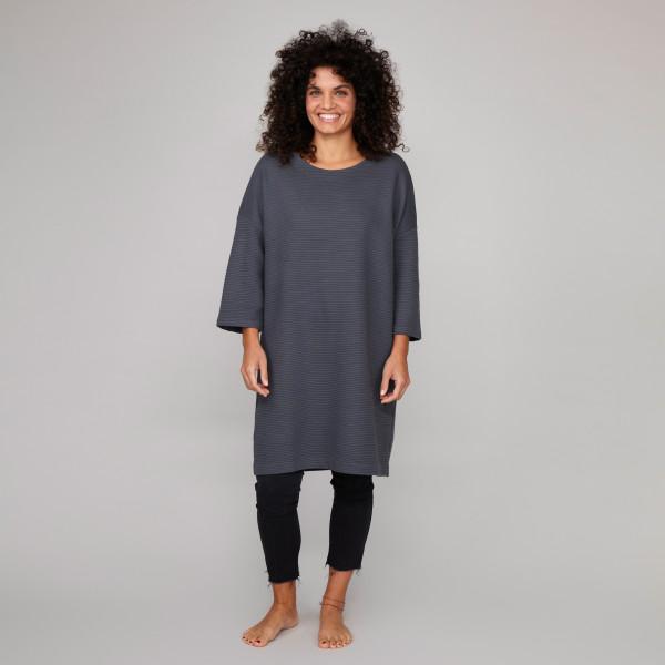 Damen Oversize Kleid graphitgrau