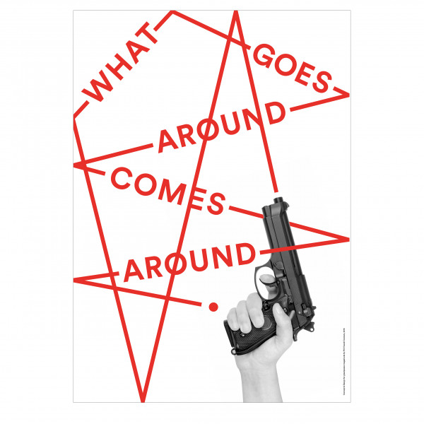"Poster ""Gewaltspirale"""