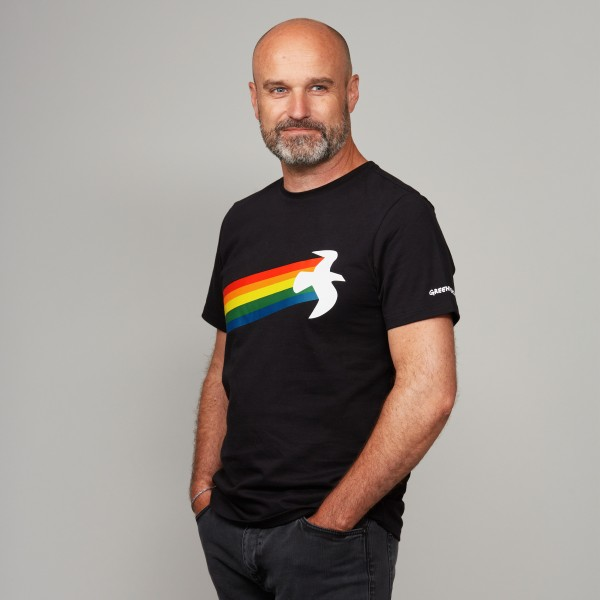 "Herren T-Shirt ""Rainbow Warrior"" schwarz"