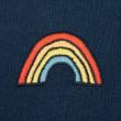 Vorschau: Jersey Sommerkleid Regenbogen dunkelblau