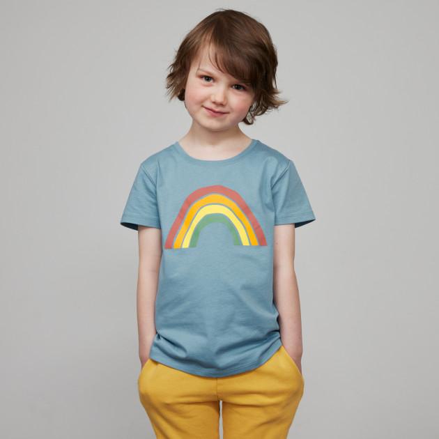 "Kids T-Shirt ""Regenbogen"" steinblau"