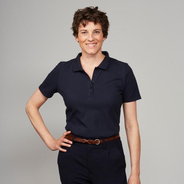 Damen-Polo nachtblau