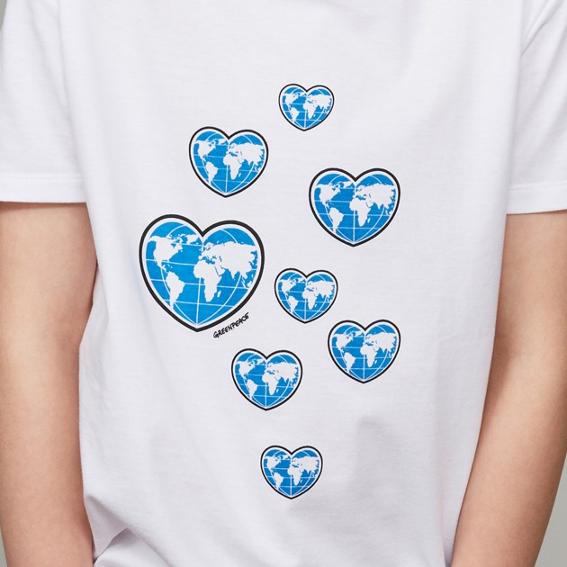 "T-Shirt ""Planet Earth First"" weiß"