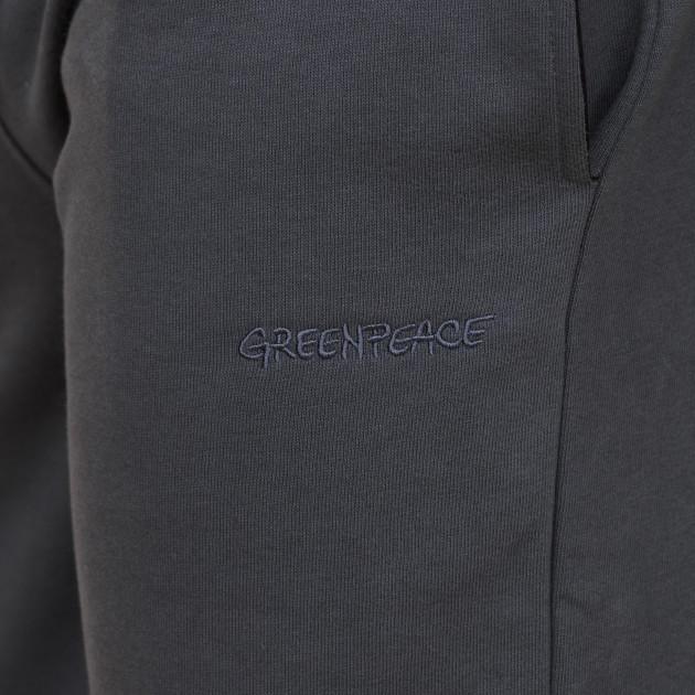 Herren Jogginghose mit Greenpeace Logostick graphitgrau