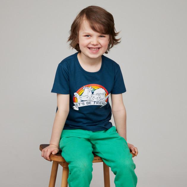 """Kids T-Shirt """"Friends"""" jeansblau"""
