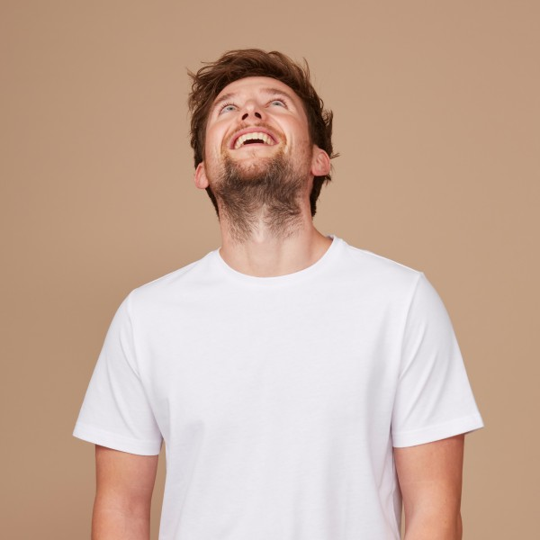Herren Basic T-Shirt Kurzarm weiß