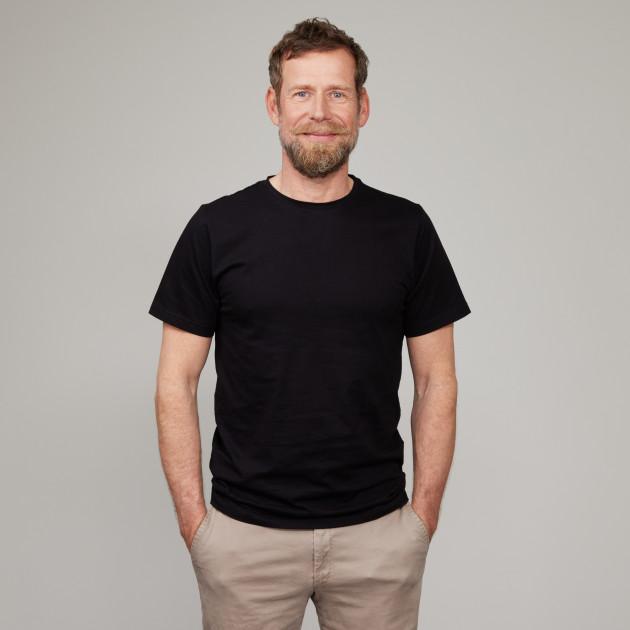 Basic T-Shirt Kurzarm mit GP Logostick schwarz