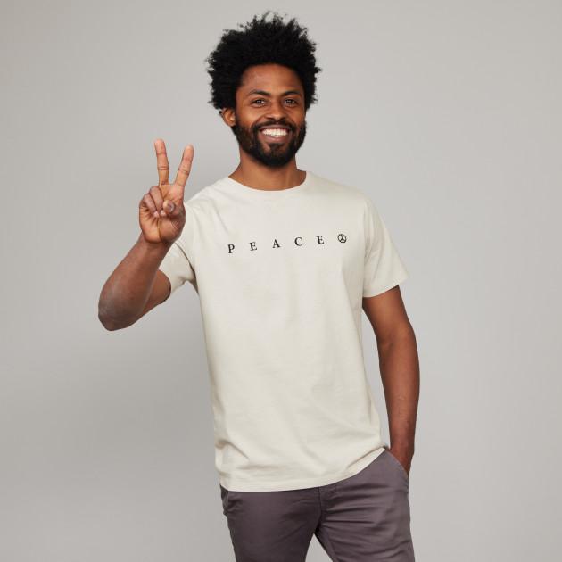 """T-Shirt """"PEACE"""" kieselgrau"""