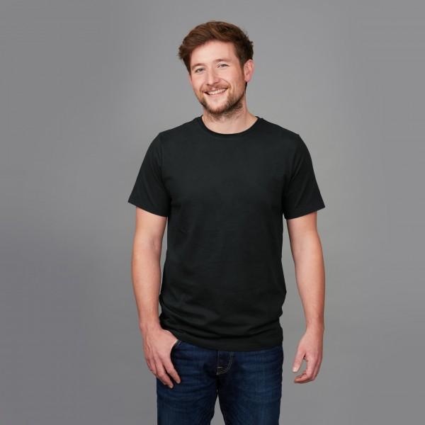 Herren Basic T-Shirt Kurzarm schwarz