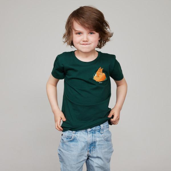 """Kids T-Shirt """"Kleiner Fuchs"""" tannengrün"""
