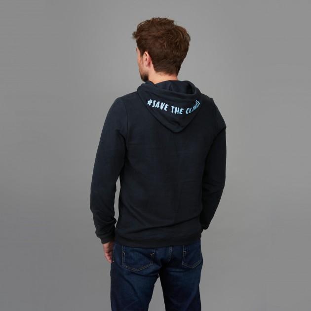 "Herren Kapuzen-Sweatshirt ""Save the Climate"" nachtblau"