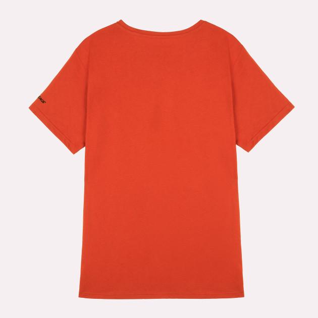 Herren Basic T-Shirt Kurzarm orangerot mit Greenpeace Logo