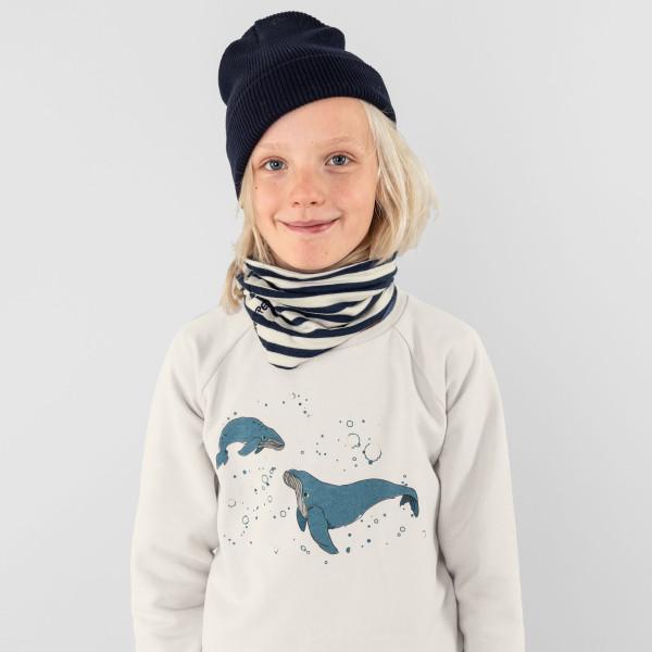 """Kids Sweatshirt """"Kleiner Wal"""" kieselgrau"""